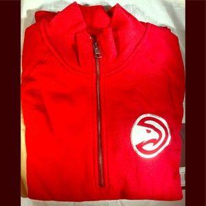 NBA womens ots fleece 1/4 zip foil pullover jacket